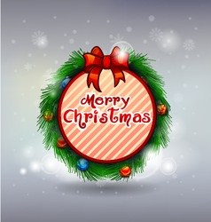 Christmas wreath decoration merry christmas vector