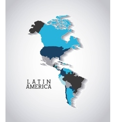 American continent design vector