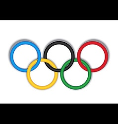 3d olympic ring on white background vector