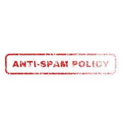 Anti-spam policy rubber stamp vector
