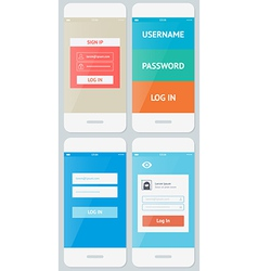 Beautiful Examples of Login Forms for Apps vector image vector image