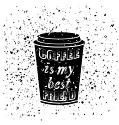 Black coffee paper cup vector