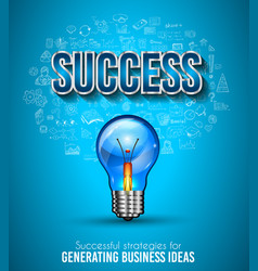 Business success template with hand drawn vector