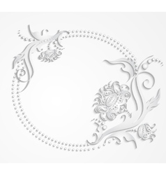Card with frame of flowers vector image