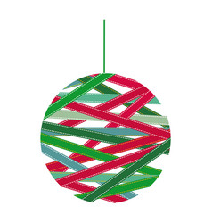 christmas garland with colorful tape around vector image vector image