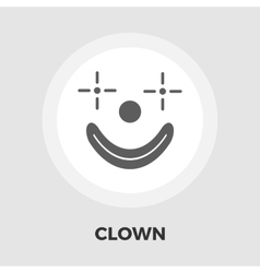 Clown flat icon vector