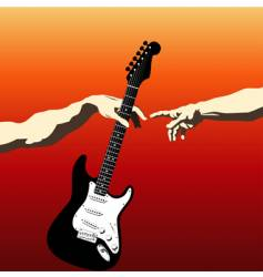 creation of Adam guitar vector image