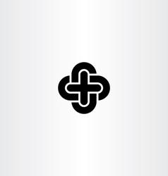 cross icon black symbol design element vector image