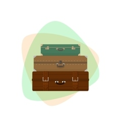 Different retro suitcases vector