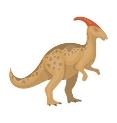 Dinosaur parasaurolophus icon in cartoon style vector