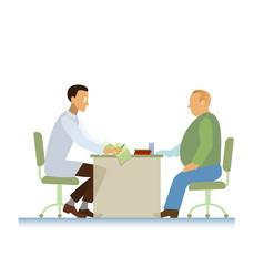 Doctor and patient ecg overweight vector