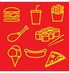 Fastfoodset vector
