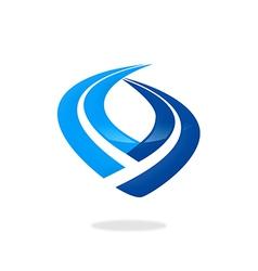 finance stripe business logo vector image