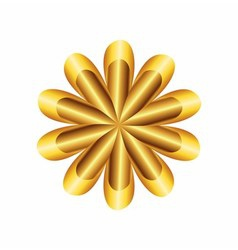 Flower golden ratio circular symbol vector