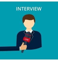 interview vector image