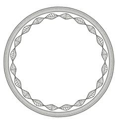 Isolated boho circle design vector