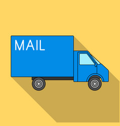 mail machinemail and postman single icon in flat vector image vector image