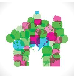 message bubbles make home icon vector image