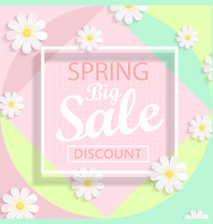 modern geometric pastel spring sale design vector image