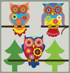 owl day shcool vector image vector image