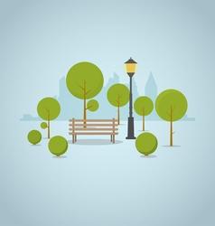 Park city bench vector