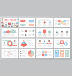 set of medical and healthcare elements for vector image vector image