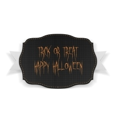 Trick or Theat Happy Halloween Text on Banner vector image