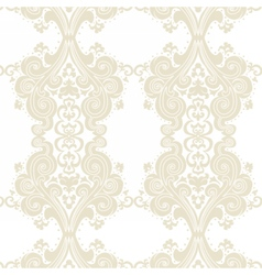 Vintage damask swirl flower ornament vector