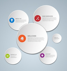 Web circles design vector