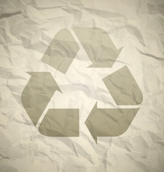 Recycled crumpled paper vector