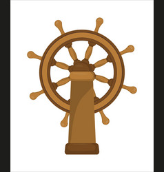 the ship wheel vector image