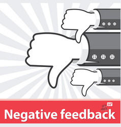 Negative feedback vector