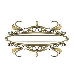 Golden board vintage victorian emblem empty image vector