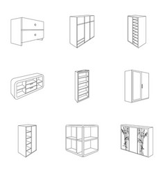 The set of images on the theme of sleep and rest vector