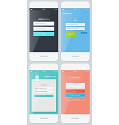 Beautiful Examples of Login Forms for Apps vector image