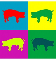 Retro pigs vector