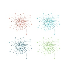 Fireworks design vector