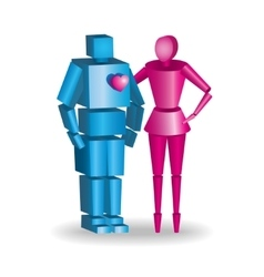 3d couple in fully scalable vector image