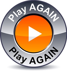 Play again round button vector