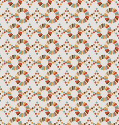 Seamless pattern of circles diamonds retro vector