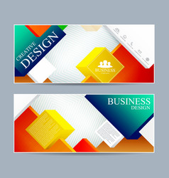 Web banner design  modern template cover layout vector