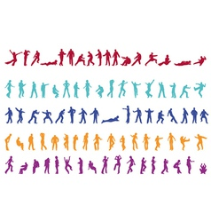 100 silhouettes vector