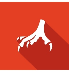 Chicken feet icon vector