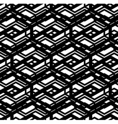 Black and white geometric art seamless pattern vector
