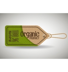 Ecology label and tag theme vector