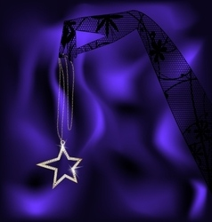 lace hand and pendanr star vector image