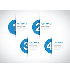 blue option background vector image