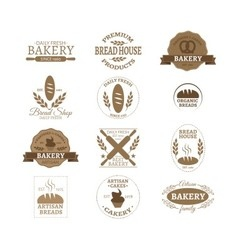bakery badge logo vector image