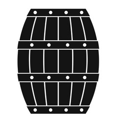 Barrel icon simple style vector
