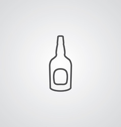 beer bottle outline symbol dark on white vector image